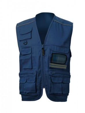 GILET- 450 - SPORT MULTITASCHE POLY/COT.