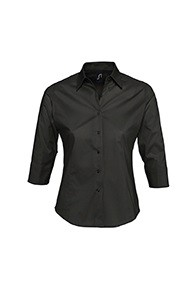 CAMICIA -EFFECT- DONNA POPELINE STRETCH MANICA 3/4